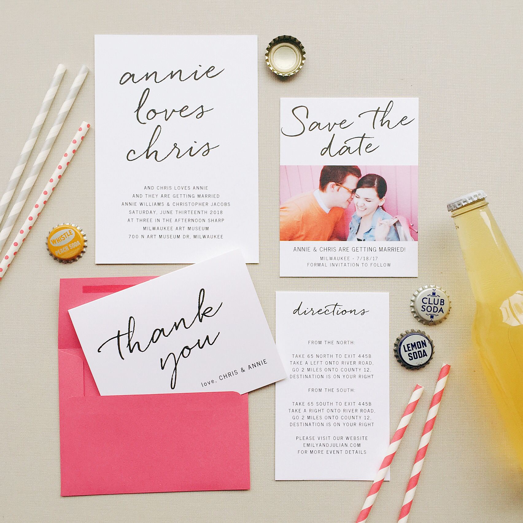 Basic Invite: Custom Invites for your Wedding! - Dawn Temple Photography